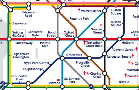 地下鉄路線図の表示例(C型)