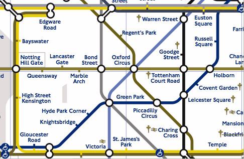 地下鉄路線図の表示例(P型)