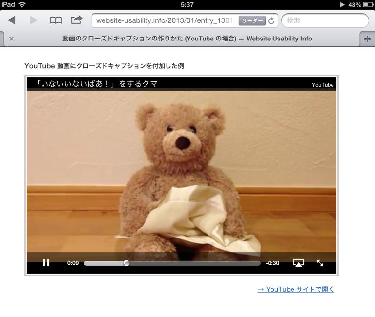 iPad の標準動画プレーヤーでの再生