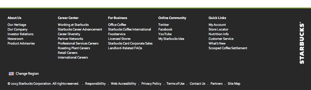 ビッグフッターの例 (Starbucks Coffee)