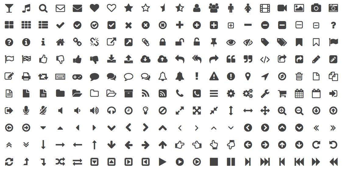 「アイコンフォント」の例 (Font Awesome)