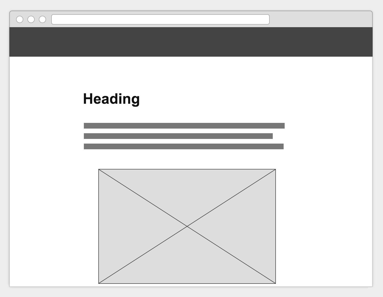 ヘッダー (ナビゲーションバー) が固定表示されたウェブページのイメージ
