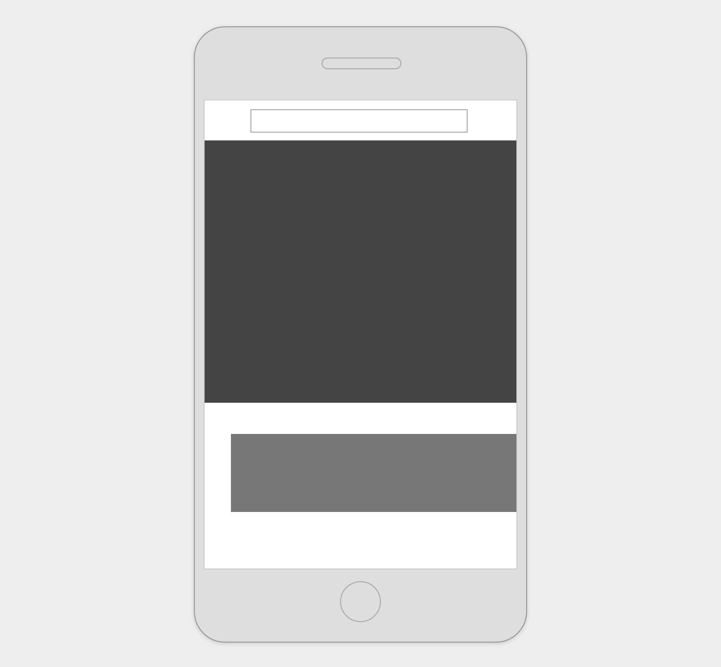 ヘッダーが固定表示されたページをスマートフォンでピンチ&ズームしたときのイメージ