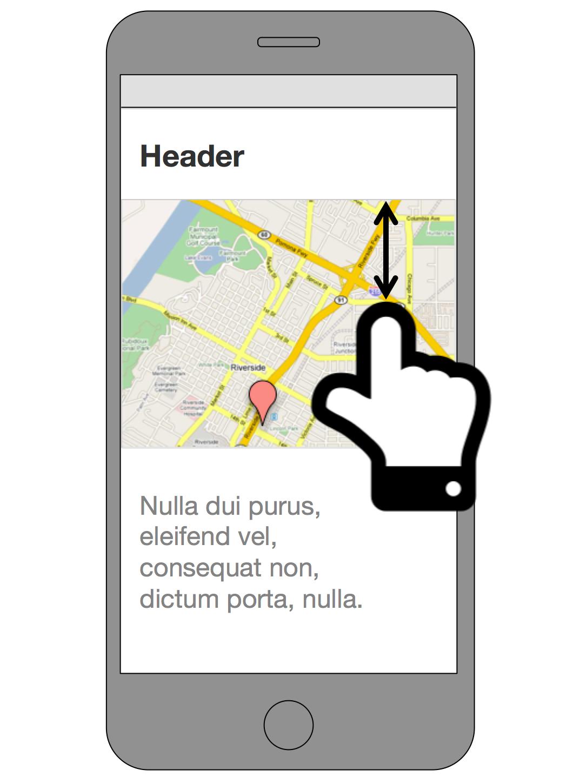 Google マップが埋め込まれたページ