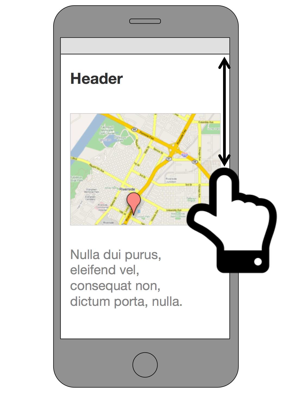 Google マップが (余白付きで) 埋め込まれたページ