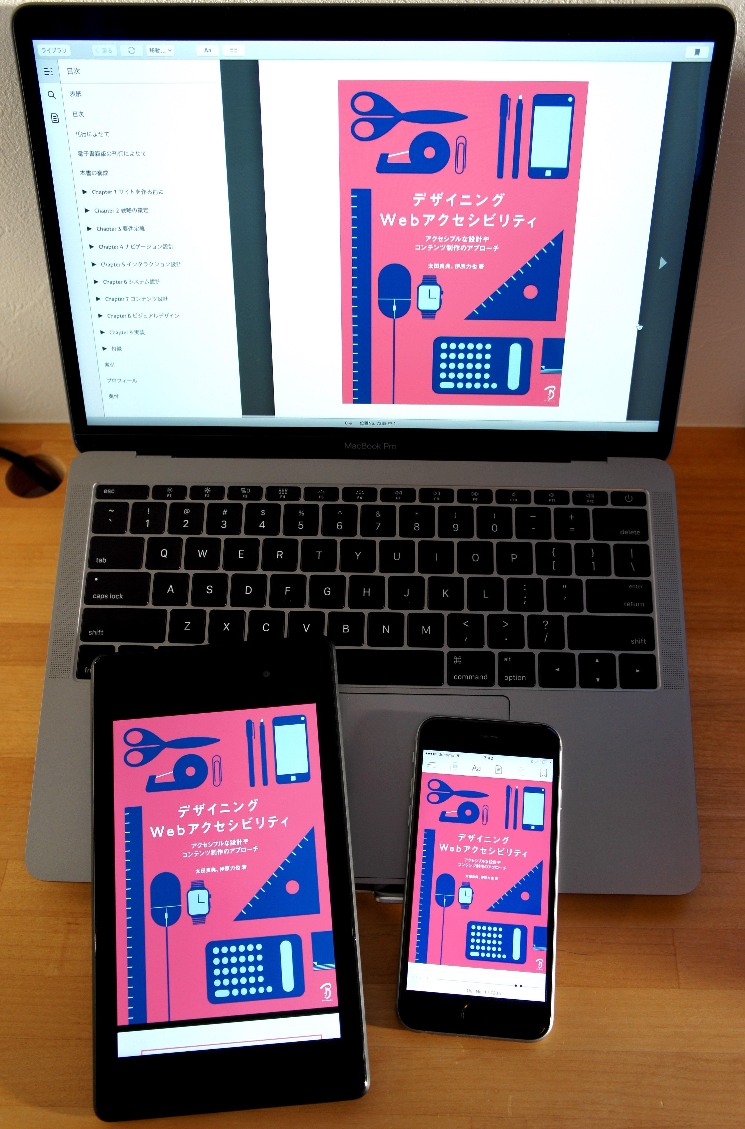 「デザイニング Web アクセシビリティ (電子書籍版)」をマルチデバイスで表示