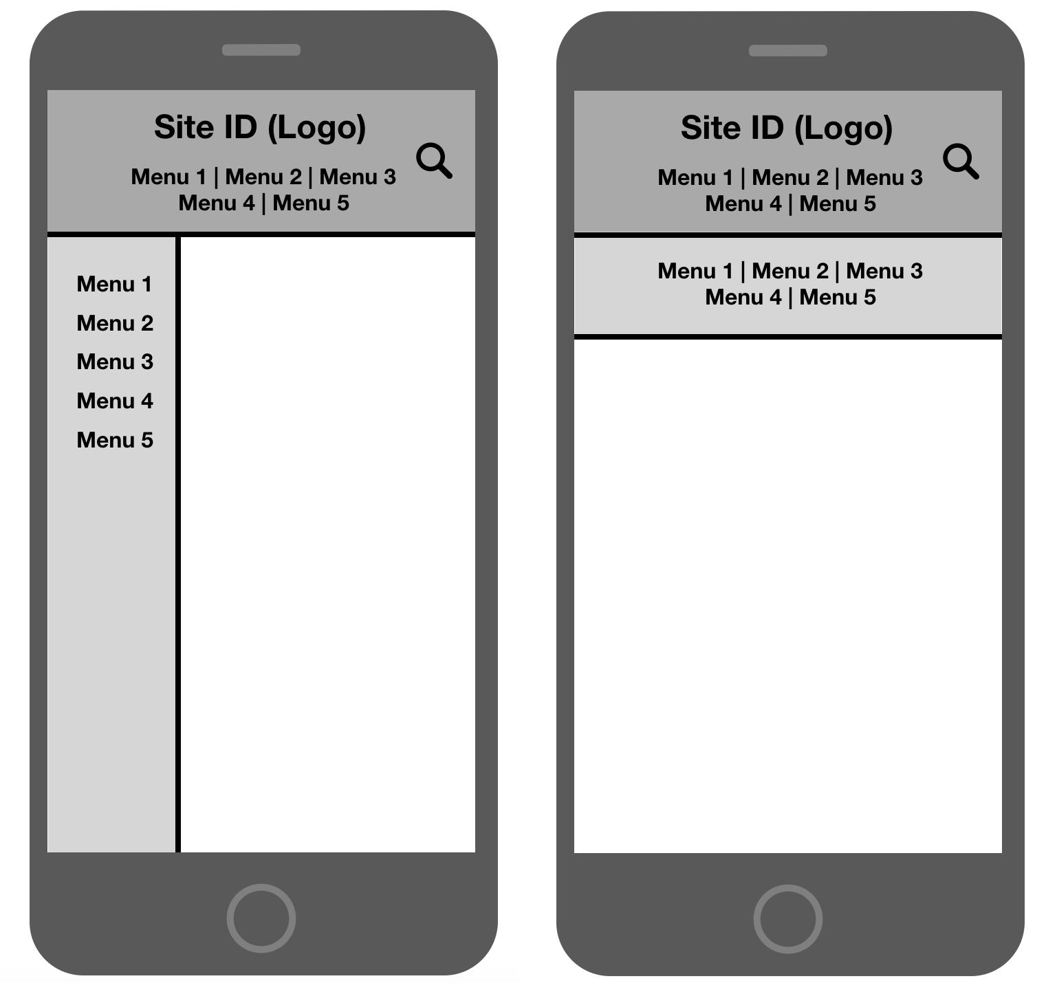 スマートフォンでの複数ナビゲーションの同時表示