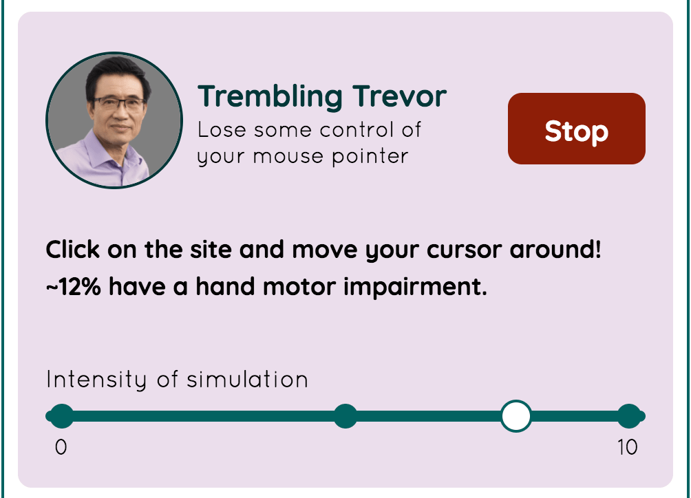 Trembling Trevor の画面