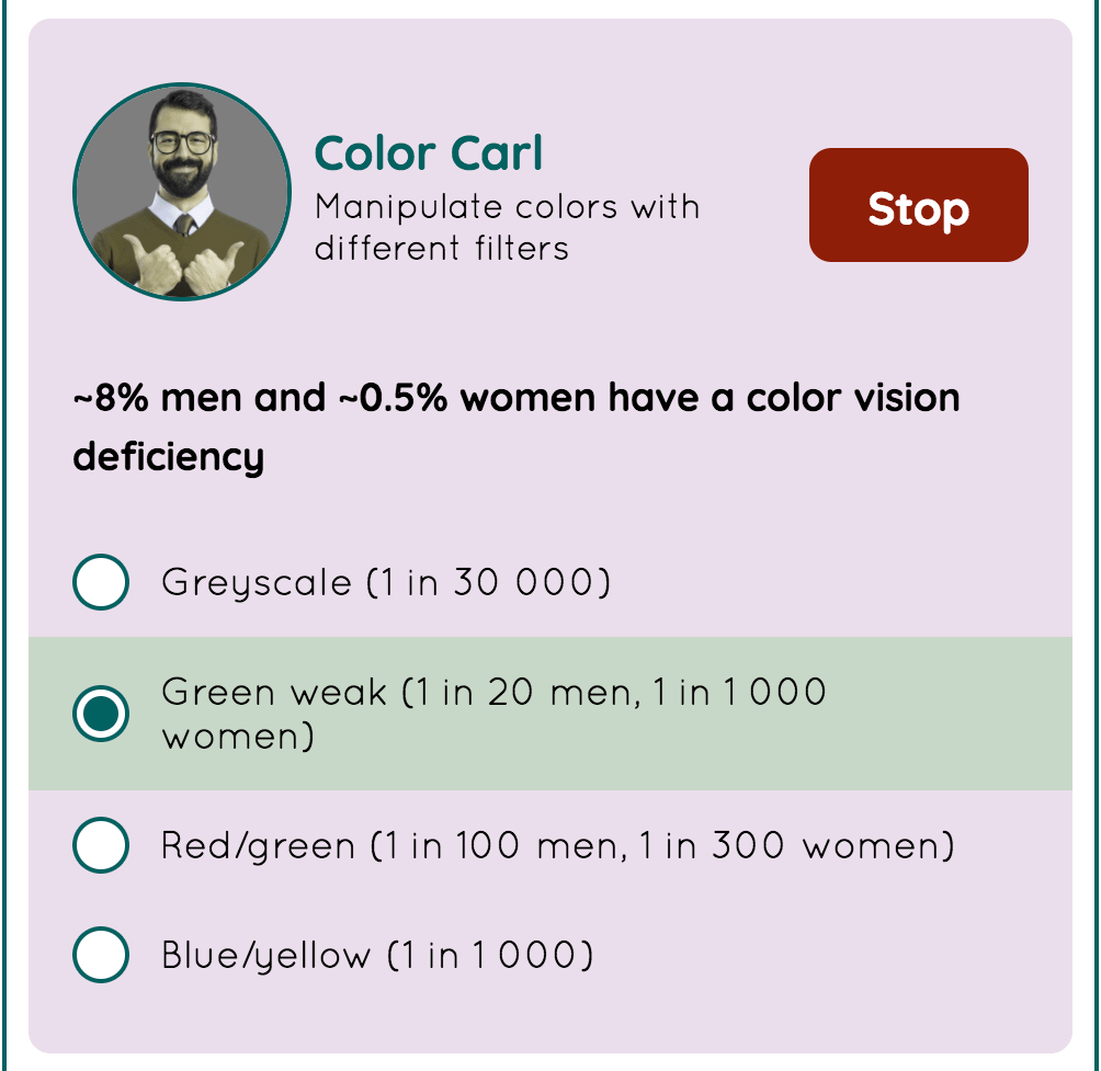 Color Carl の画面